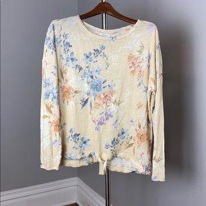 Sundance #234 Floral Linen Top Blouse